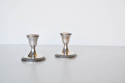 Vintage Weighted Sterling Candlesticks