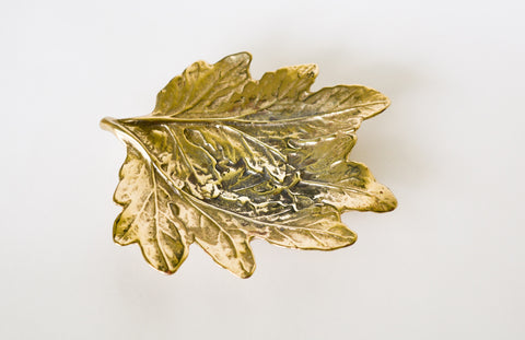 Brass Chrysanthemum Leaf - Virginia Metalcrafters