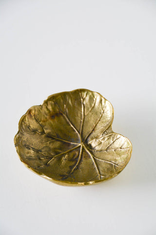 Virginia Metalcrafters Brass Geranium Leaf