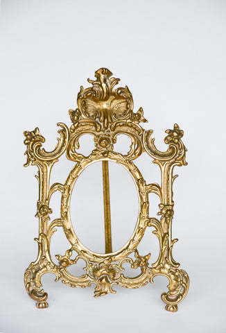 Antique Victorian Brass Frame