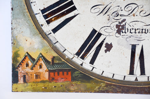 Antique English Painted Clock Face