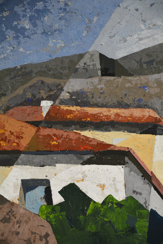 Cubist Greek Village