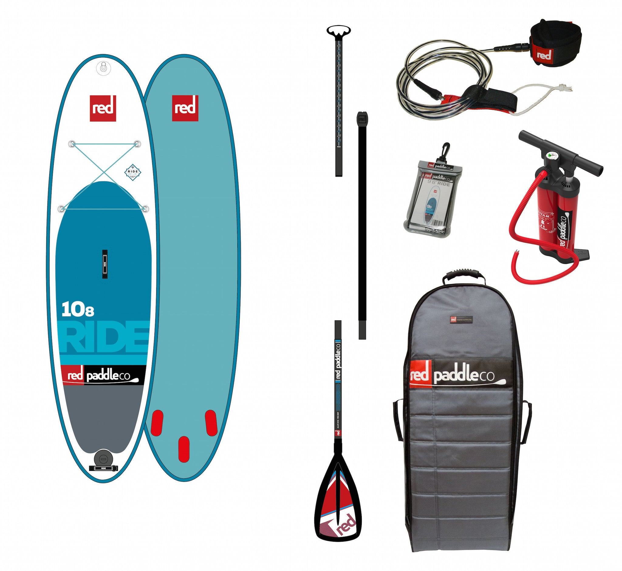 "Red Paddle 10'8"" Ride"