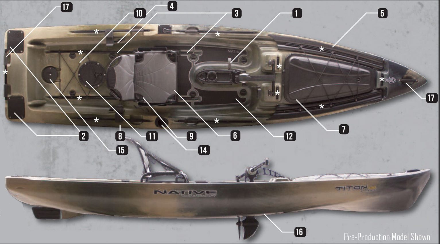 Native Titan Fishing Kayak