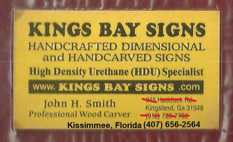 John provided the following examples of how to hang HDU signs