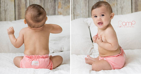 AMP One-Size Duo Diaper - Flamingo * New *