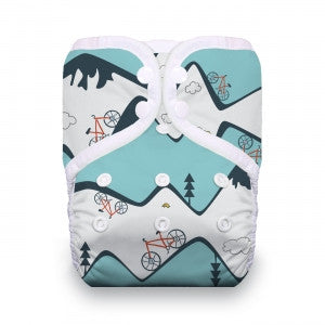 Thirsties One-Size All In One Cloth Diaper - Mountain Bike
