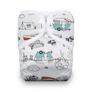 Thirsties One-Size All In One Cloth Diaper - Happy Camper