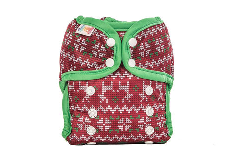 Bummi's One Size Pocket Diaper - Xmas Sweater