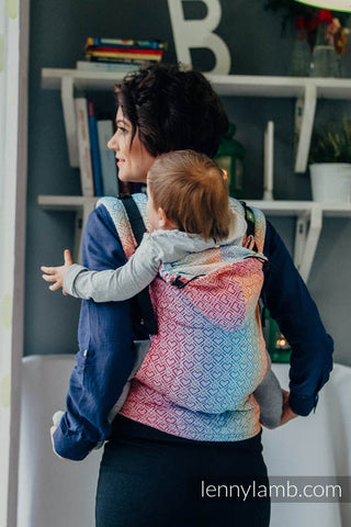 Lenny Lamb Ergonomic Toddler  Carrier -  Big Love Rainbow
