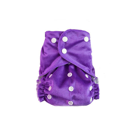 Easy Peasies One Size Pocket Diaper - Orchid Velour