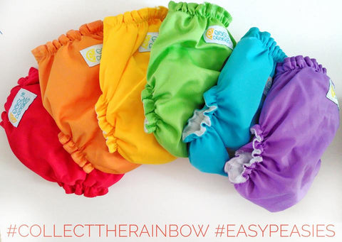 Easy Peasies  One-Size Pocket Diaper ( multiple Colors & Prints )