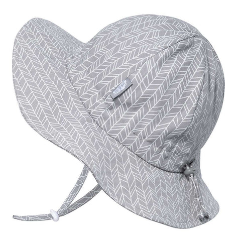 Grey Herringbone | Cotton Floppy Hat
