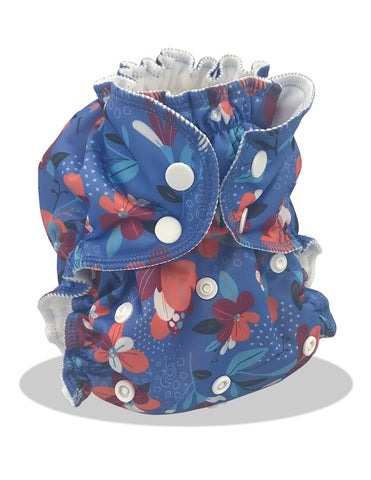 Applecheeks One-Size Pocket Diaper - Solar Flower *NEW *
