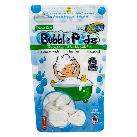 TruKid Eczema Bubble Pods, Natural Bubble Bath with Oatmeal, Aloe & Vit E