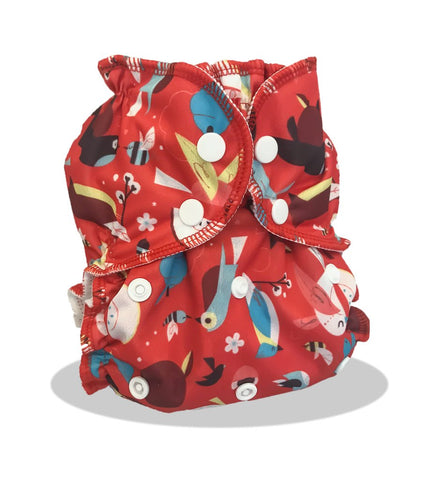 Applecheeks One-Size Pocket Diaper -  Cardinal Rule