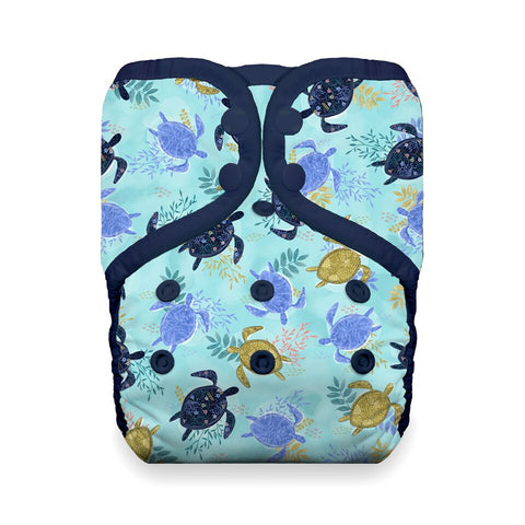 Thirsties One Size Pocket Diaper - Tortuga