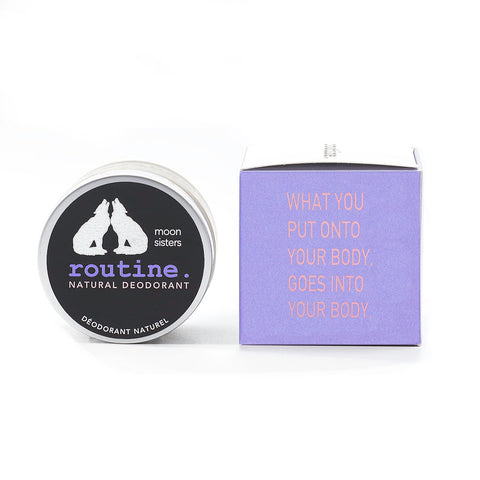 Routine . Natural Deodorant - Moon Sisters ( activated charcoal, magnesium, prebiotics )