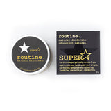 Routine . Natural Deodorant - SuperStar ( Charcoal, Magnesium & Prebiotics )