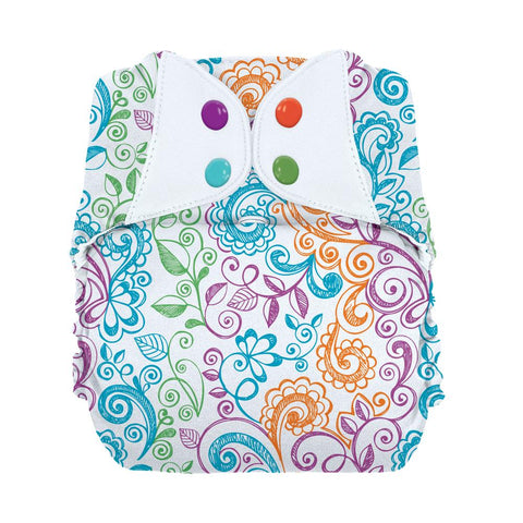 Bumgenius  *NEW* Elemental One Size Organic Cloth Diaper - LoveLace
