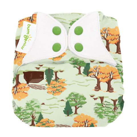 Bumgenius  *NEW* Elemental One Size Organic Cloth Diaper - Big Woods