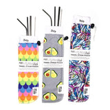 "Marleys Monsters Straw Pouch + 8.5"" Stainless Straw Set"