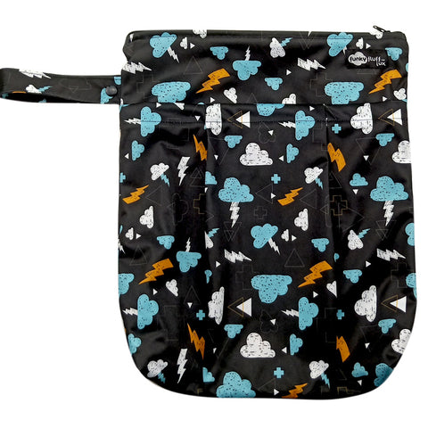 Funky Fluff Double Pocket Wet Bag (Print)