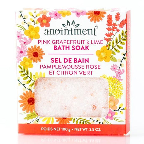 Anointment Pink Grapefruit and Lime Bath Soak (100g)