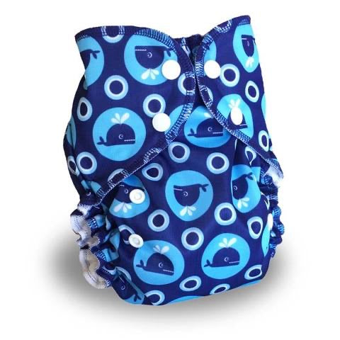 AMP One-Size Duo Diaper -  Whales *New*