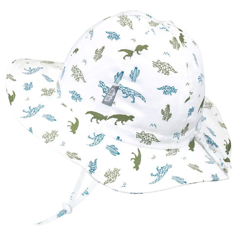 Jan & Jul Gro-With-Me Sunhat - Cotton Floppy - Dino