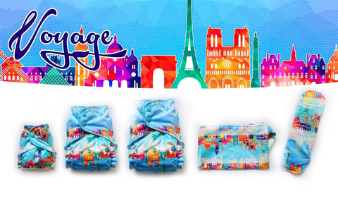 Easy Peasies One Size Pocket Diaper - Voyage