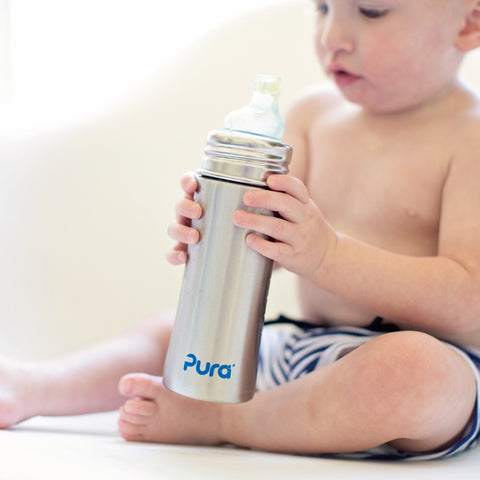 Pura Kiki - Infant/Toddler Stainless Steel Bottles  *Sippy Top*