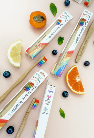 The Future is Bamboo Kid Rainbow Toothbrush