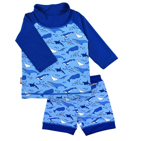 Whale Play | UV Shirt Shorts Set