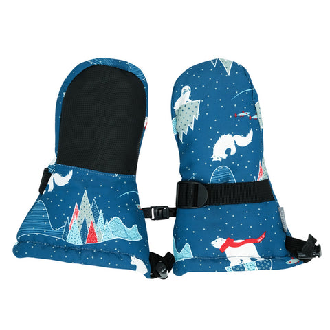 JAN & JUL Cozy-Dry Waterproof Mittens | Arctic (XS - 0-2 Y - thumbless)