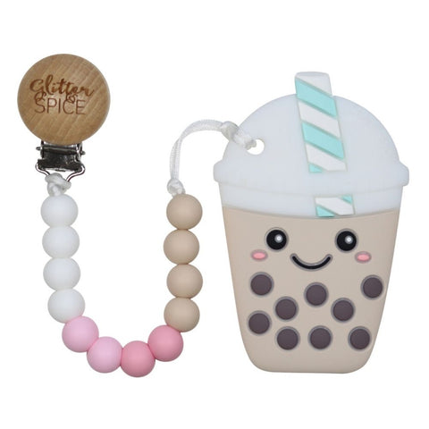 Glitter & Spice - Bubble Tea Teether (Pink)