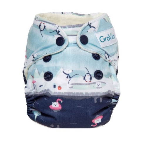 Grovia - Newborn AIO cloth diaper -Pool Party