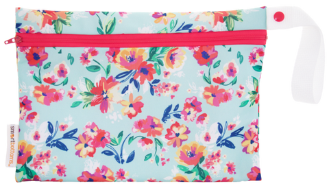 Smart Bottoms Small Wet Bag - Aqua Floral