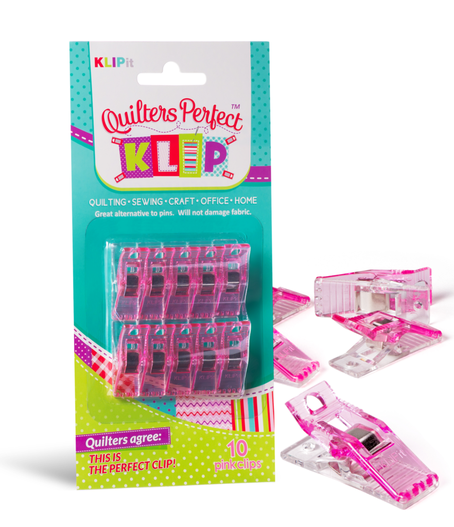 KLIPit Quilters Perfect Klips 10pcs Pink
