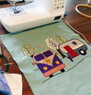 Dear Emma Designs Workshop Textile Art / Embroidered Lampshade Workshop - Saturday 19th September 2020