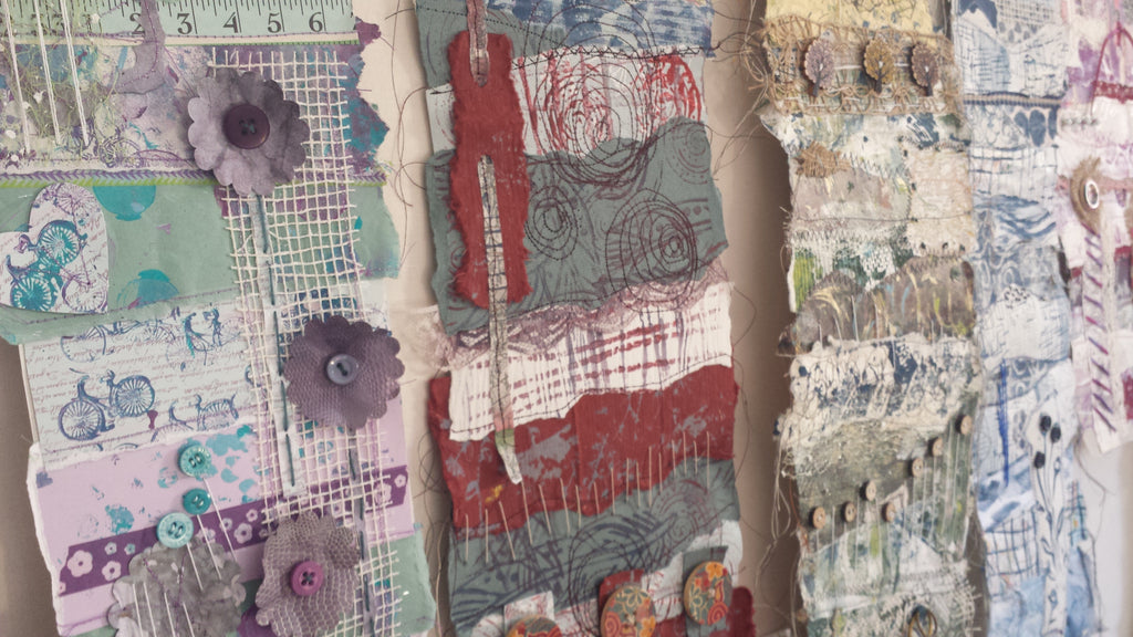 Print Collage Stitch with Anne Brooke Textile Artist Sunday 6th October 2019