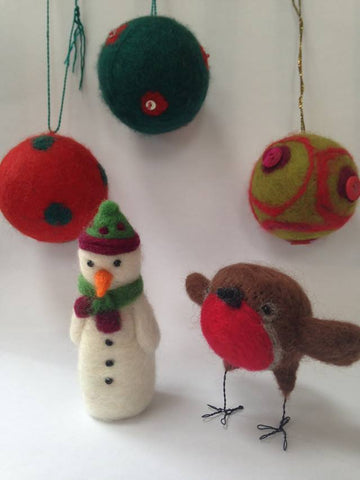 Needle Felted Christmas Decorations with Robyn Smith - Saturday 1st December 2018