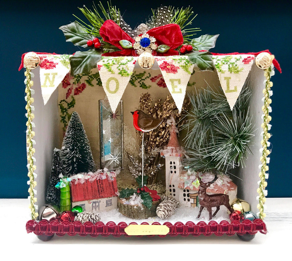Christmas Story Boxes A Mixed Media Workshop with Artist Sally Kheng