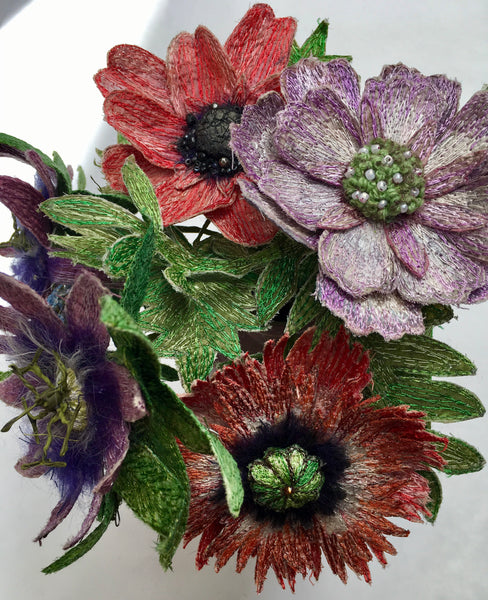 3D Flower Workshop with Corinne Young Textile Artist - Saturday 24th February 2018