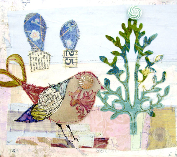 Mixed Media Embroidered Canvas Workshop with Priscilla Edwards Sunday 9th September