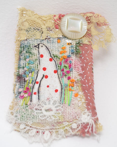 Haberdashery Brooch, Bracelet & Pendant Workshop with Hens Teeth Art Saturday 11th July 2020