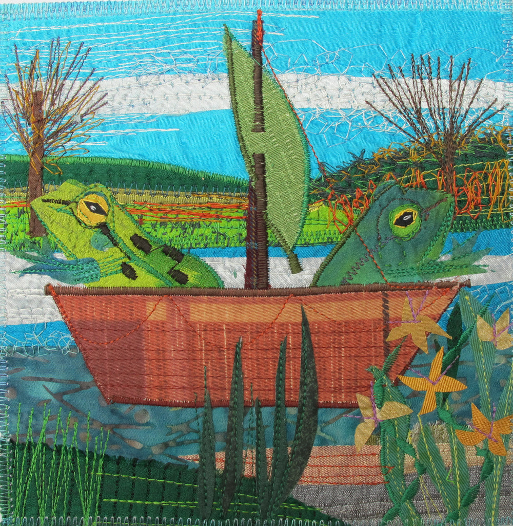 Pondlife Collage and Applique Picture Workshop with Rachel Sumner - Sunday 11th October 2020