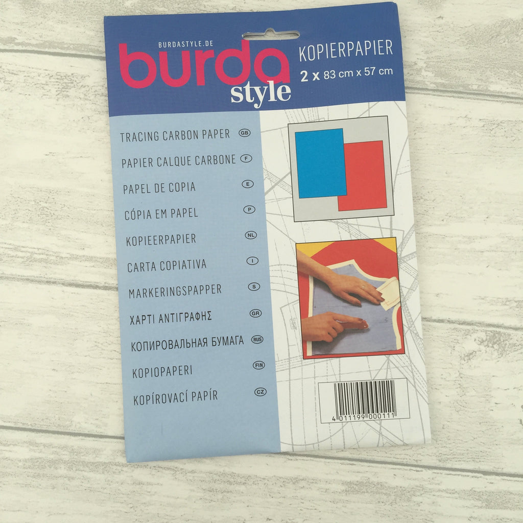 Burda Tracing Dressmakers Carbon Paper 1 x Blue 1 x Red