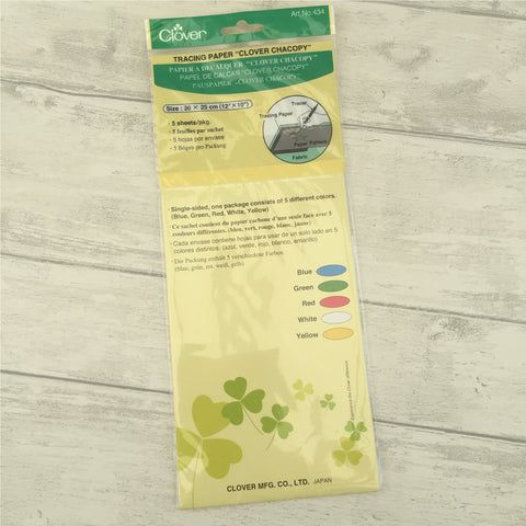 Clover Chacopy Dressmakings Tracing Carbon Paper 5 Colours