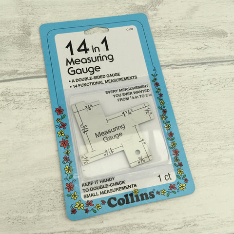 14 In 1 Measuring Gauge for Quilters